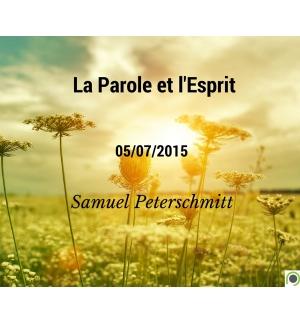 La Parole et l'Esprit - Samuel Peterschmitt - CD ou DVD