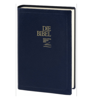 Bible en Allemand Schlachter version 2000 Fibrocuir bleu