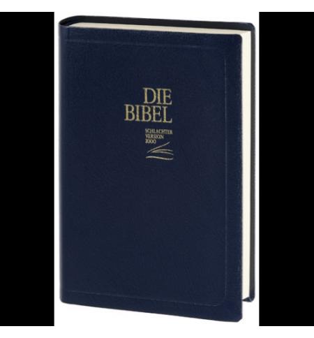Bible en Allemand Schlachter version 2000 Fibrocuir bleu