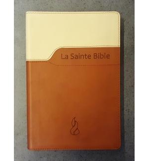 Bible, reliée, caractères confort, souple duo brun, Segond 1979 NEG