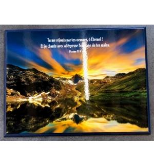 Cadre en bois tu réjouis par tes oeuvres , ô Eternel ! Ps.92:4
