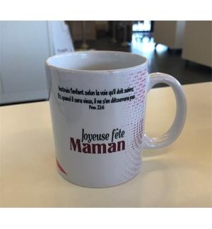 """Mug blanc """" Joyeuse fête Maman Prov. 22.6"""""""