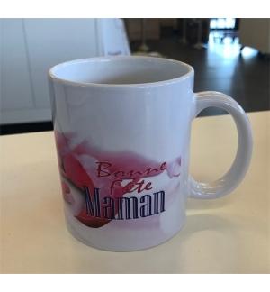 """Mug blanc """" Joyeuse fête Maman Rom. 8:39"""""""
