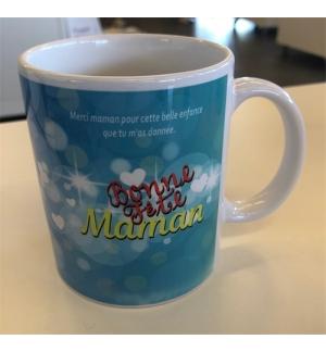 """Mug blanc """"Bonne fête Maman Prov. 1.8"""""""