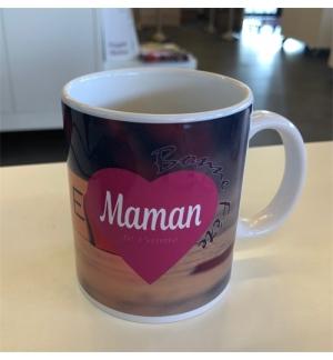 """Mug blanc """"Bonne fête Maman 2 Tim 1:2"""""""