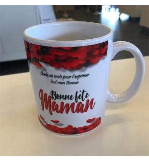 """Mug blanc """"Bonne fête Maman Ps. 100.5"""""""