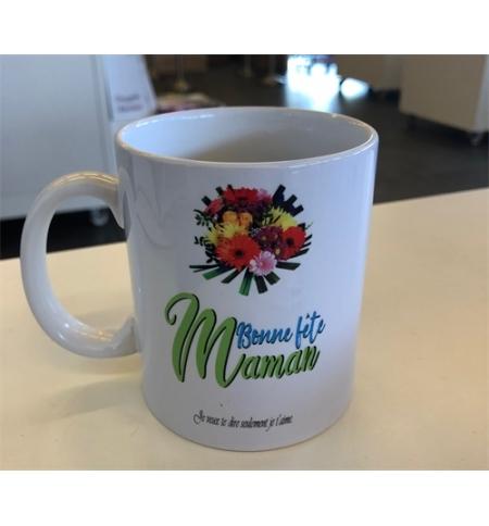 """Mug blanc """"Bonne fête Maman Rom. 8:39"""""""