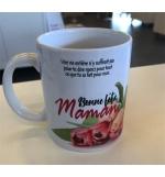 """Mug blanc """"Bonne fête Maman Ex. 33:14"""""""