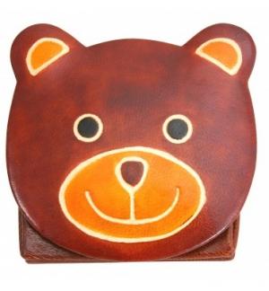 Porte-monnaie ourson en cuir