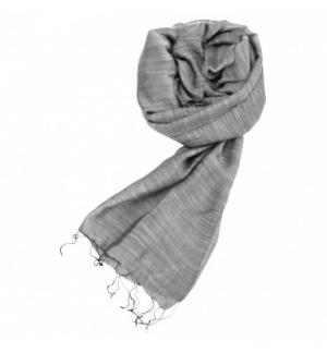 Écharpe soie et coton coloris gris taupe