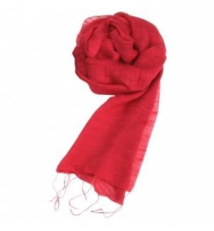 Écharpe soie et coton coloris rouge cuivre